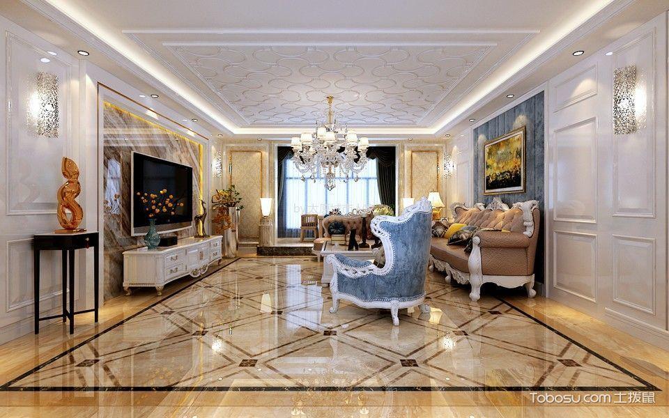 8万预算215平米三室两厅装修效果图