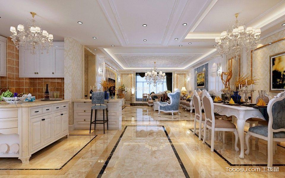 餐厅白色走廊欧式风格装潢设计图片