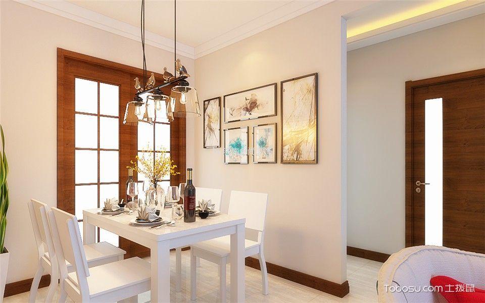 餐厅米色照片墙简约风格装修设计图片