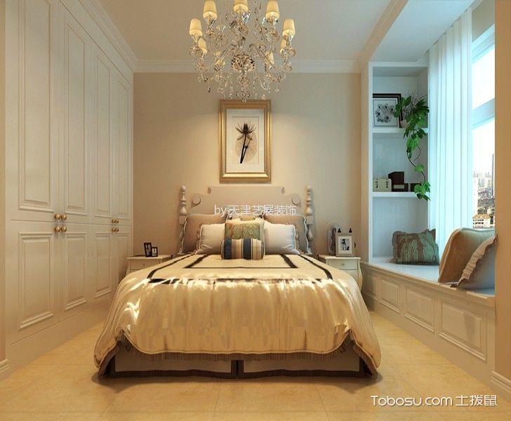 卧室黄色飘窗简欧风格装潢设计图片