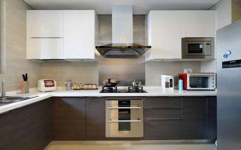 厨房背景墙美式风格装修设计图片