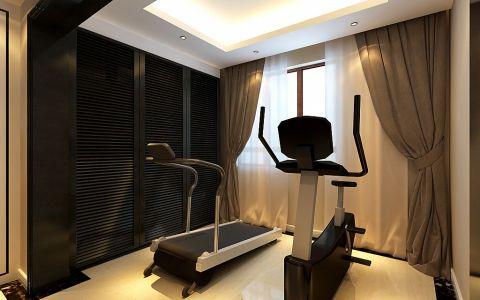 健身房窗帘简欧风格装饰图片