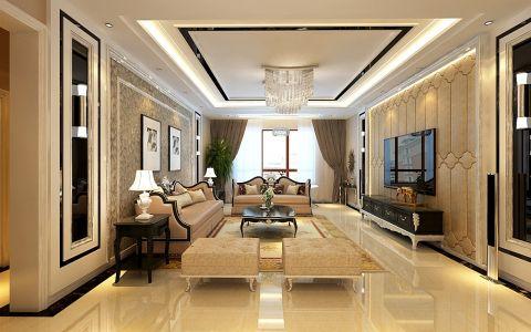 10万预算140平米楼房装修效果图