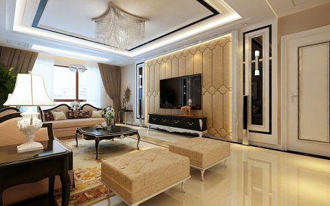 客厅吊顶简欧风格装潢设计图片