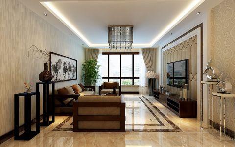 6.5万预算110平米楼房装修效果图