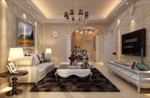 客厅隔断欧式风格装修图片