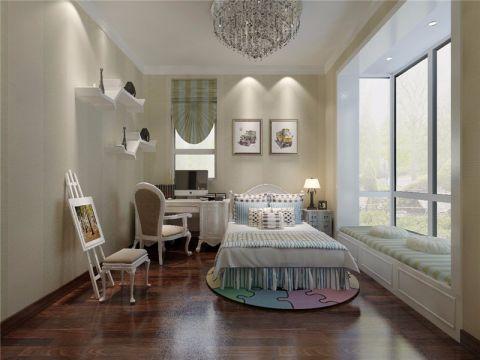 儿童房飘窗现代简约风格装潢图片
