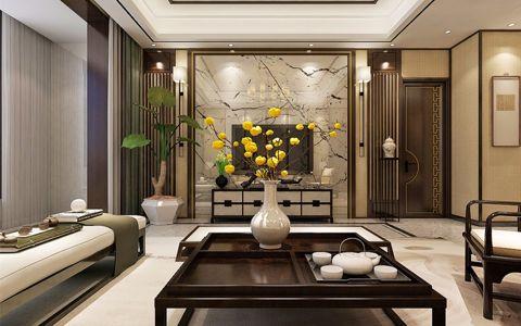白云雅居新中式三居室装修效果图
