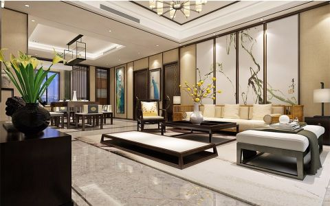 客厅走廊新中式风格装饰图片