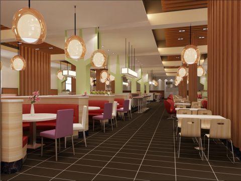 企业高级餐厅装潢效果图