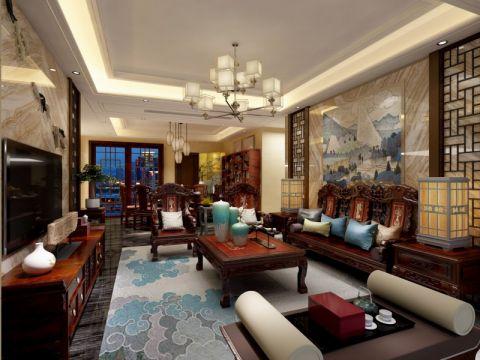 75万预算200平米四室两厅装修效果图