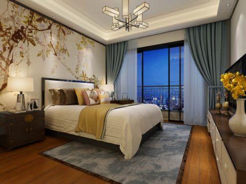 卧室吊顶中式风格装饰效果图