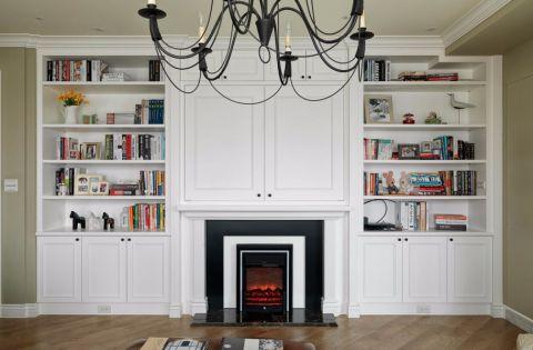 客厅博古架美式风格装修图片