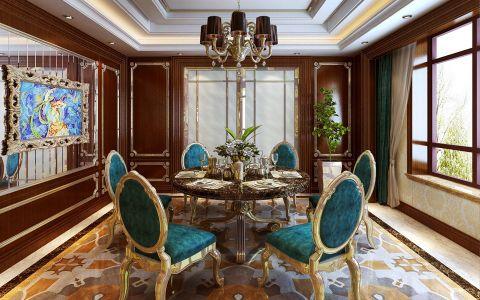 餐厅背景墙新古典风格装饰效果图