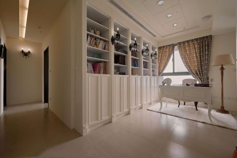 书房窗帘新古典风格效果图