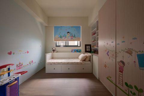 儿童房背景墙新古典风格装修效果图