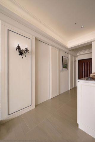 客厅推拉门新古典风格装潢效果图