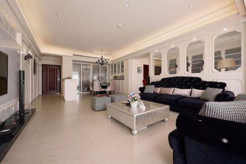 客厅榻榻米新古典风格装潢图片