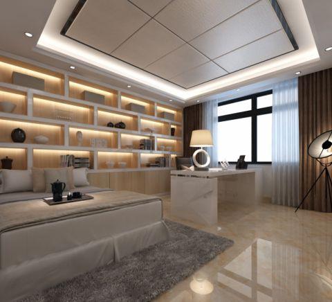 卧室博古架现代风格装潢效果图