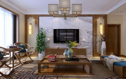 7万预算177平米三室两厅装修效果图