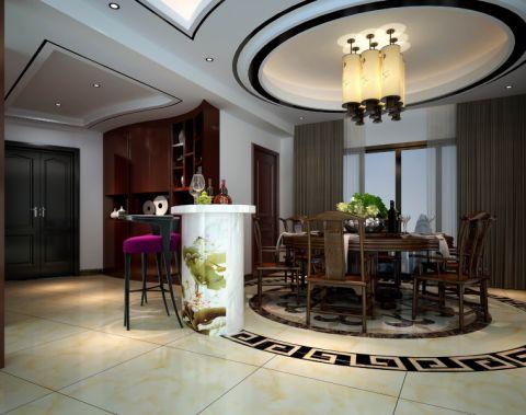 餐厅吊顶中式风格装潢图片