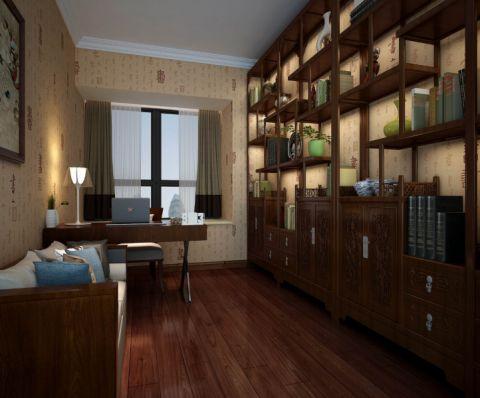 书房博古架中式风格装修设计图片