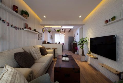 6.6万预算89平米两室两厅装修效果图