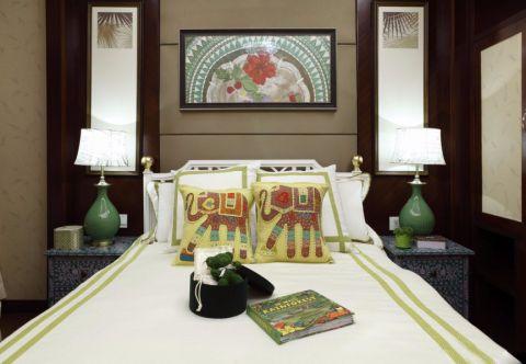 卧室背景墙混搭风格装饰设计图片