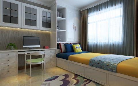 卧室书桌现代简约风格装饰设计图片