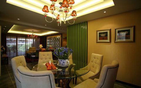 餐厅背景墙混搭风格装修效果图