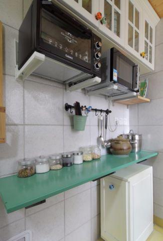 厨房背景墙混搭风格装饰图片