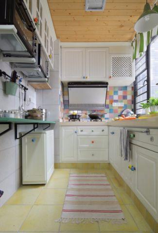 厨房地砖混搭风格装潢图片
