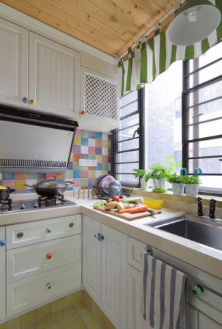 厨房吊顶混搭风格装修设计图片