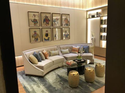 背景墙新中式风格装潢图片