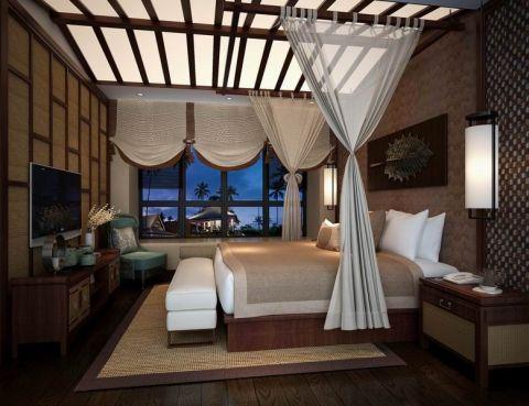 卧室吊顶简中风格装修设计图片