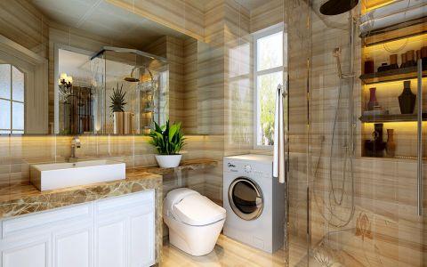 卫生间背景墙现代简约风格装潢图片