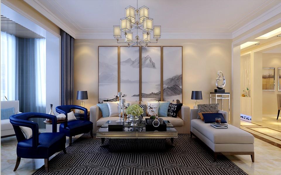 3室2卫1厅150平米新中式风格