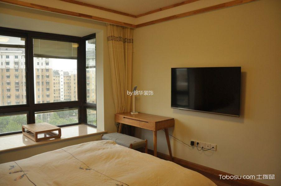 卧室米色飘窗日式风格装饰设计图片