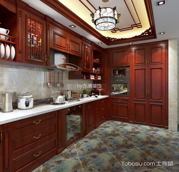 厨房 橱柜_15万预算120平米三室两厅装修效果图