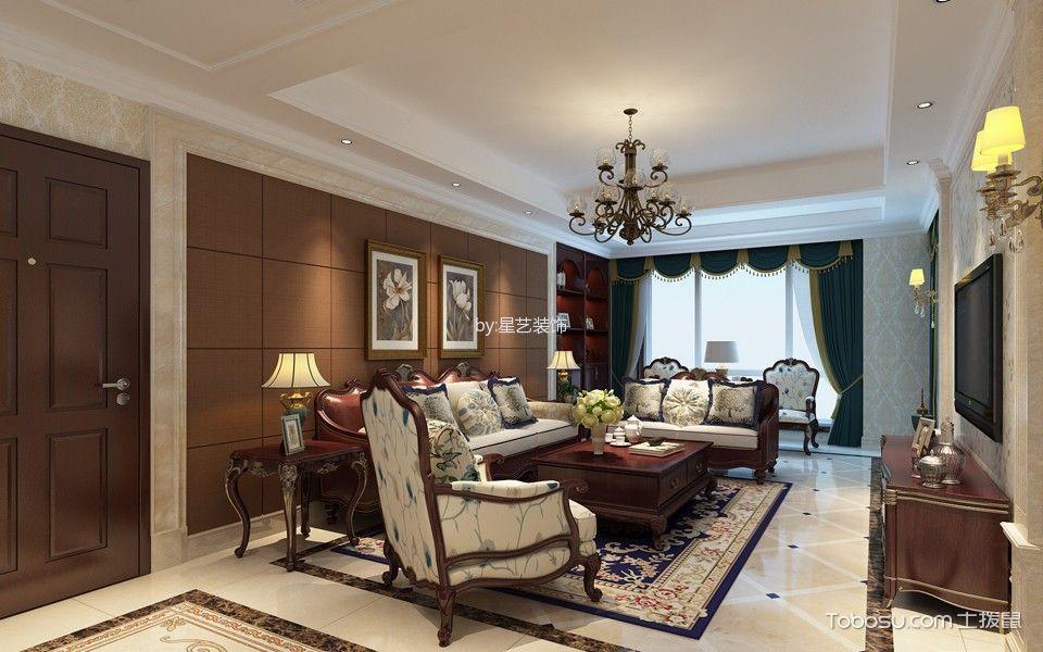 美式风格200平米大户型室内装修效果图