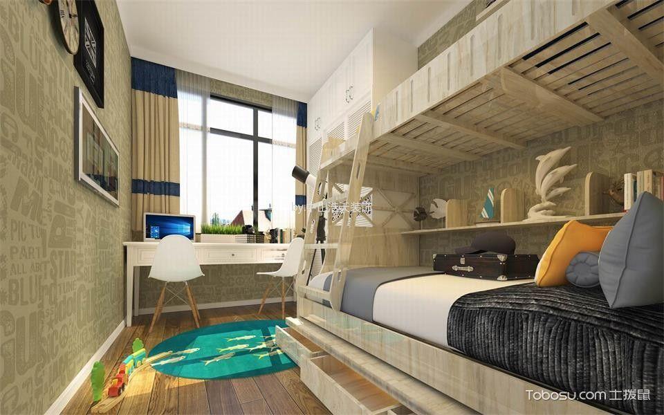 卧室米色窗帘东南亚风格效果图