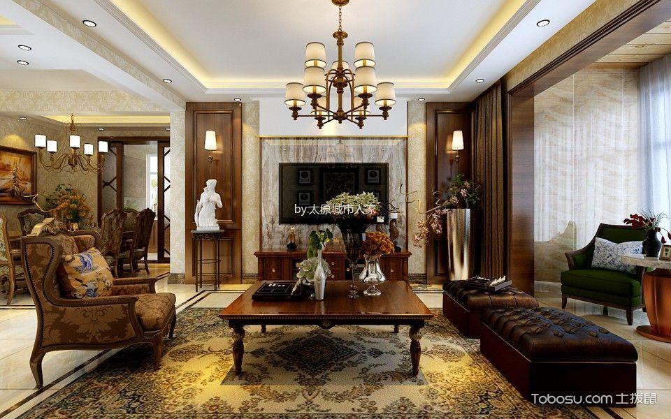 4.5万预算150平米三室两厅装修效果图