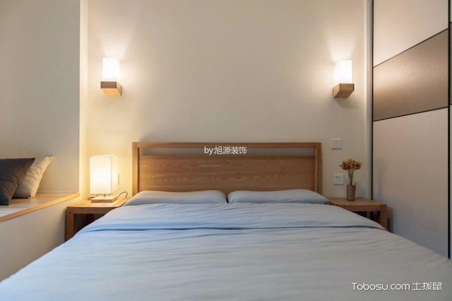 卧室白色背景墙日式风格装饰设计图片
