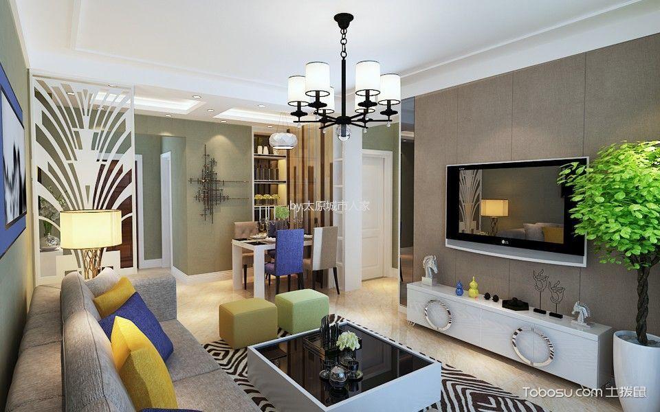3万预算101平米两室两厅装修效果图
