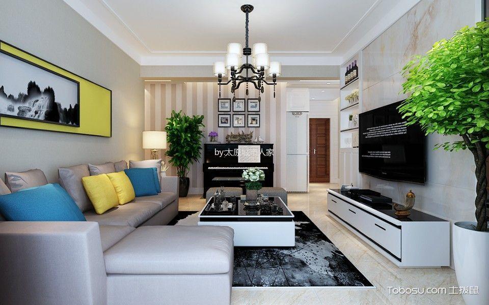 3万预算110平米两室两厅装修效果图