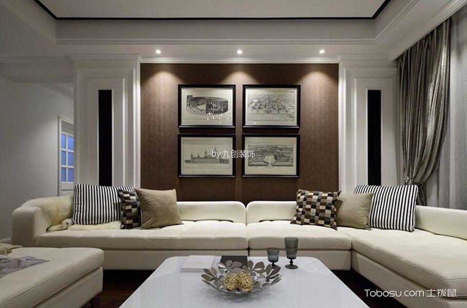 唐山凤凰湖畔148平米现代简约风格效果图