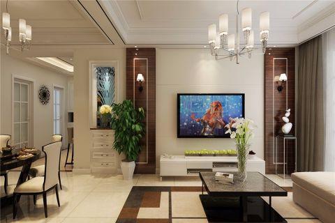 华地学府名都现代简约风格三居室装修效果图