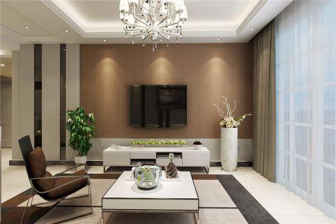 客厅背景墙简约风格装饰设计图片