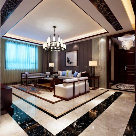 客厅照片墙新中式风格装饰效果图