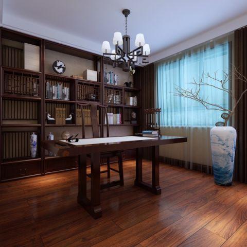 书房吊顶新中式风格效果图